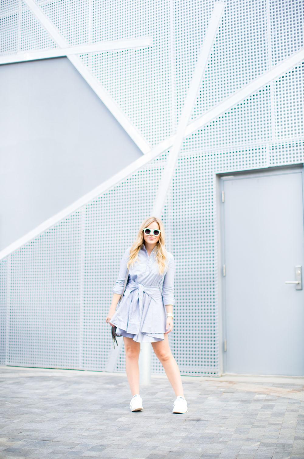 Stripe Shirt Dress