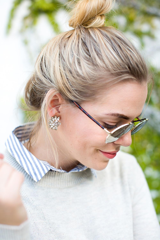 Round Gold Mirrored Sunglasses