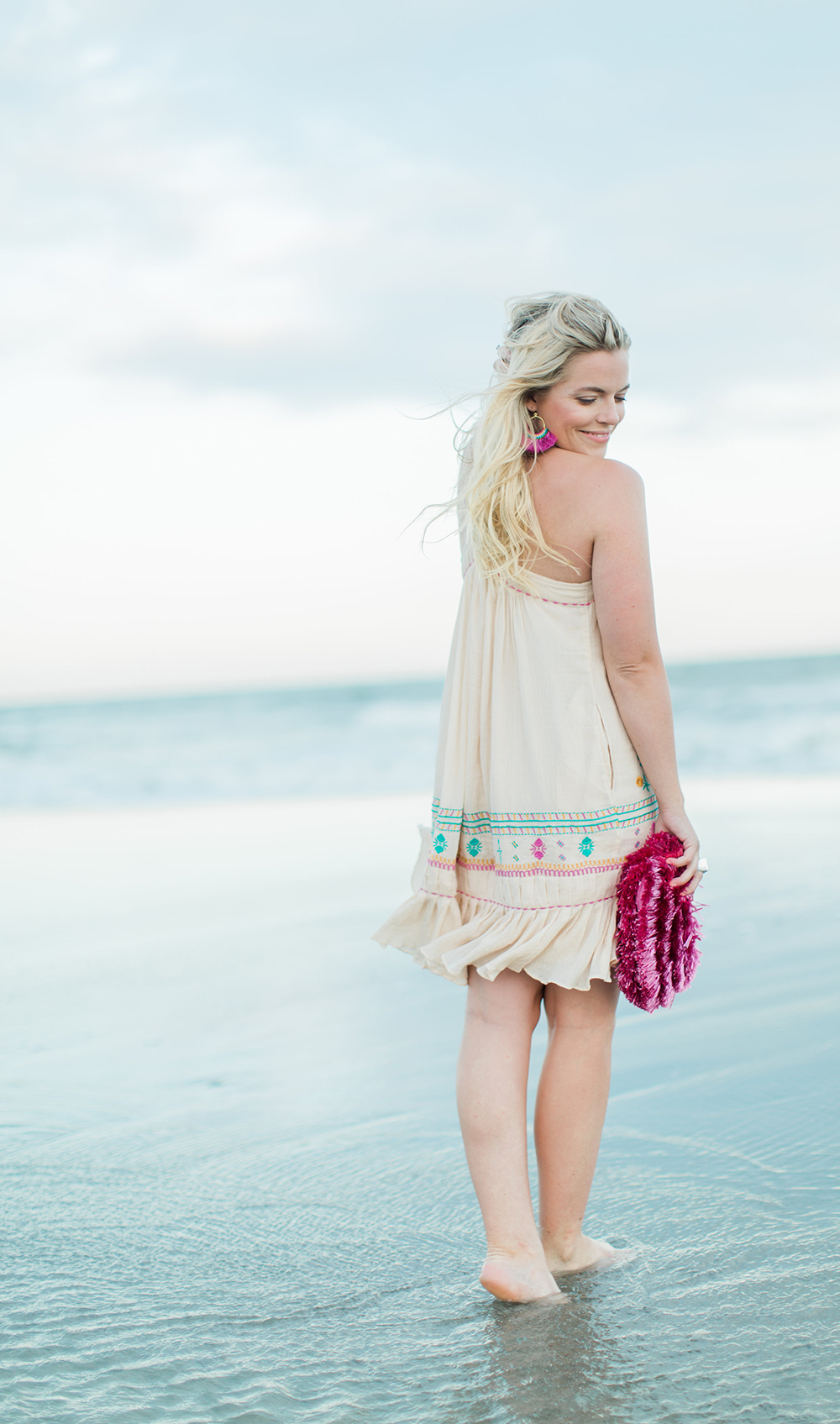 Beach Embroidery | Living In Color Print