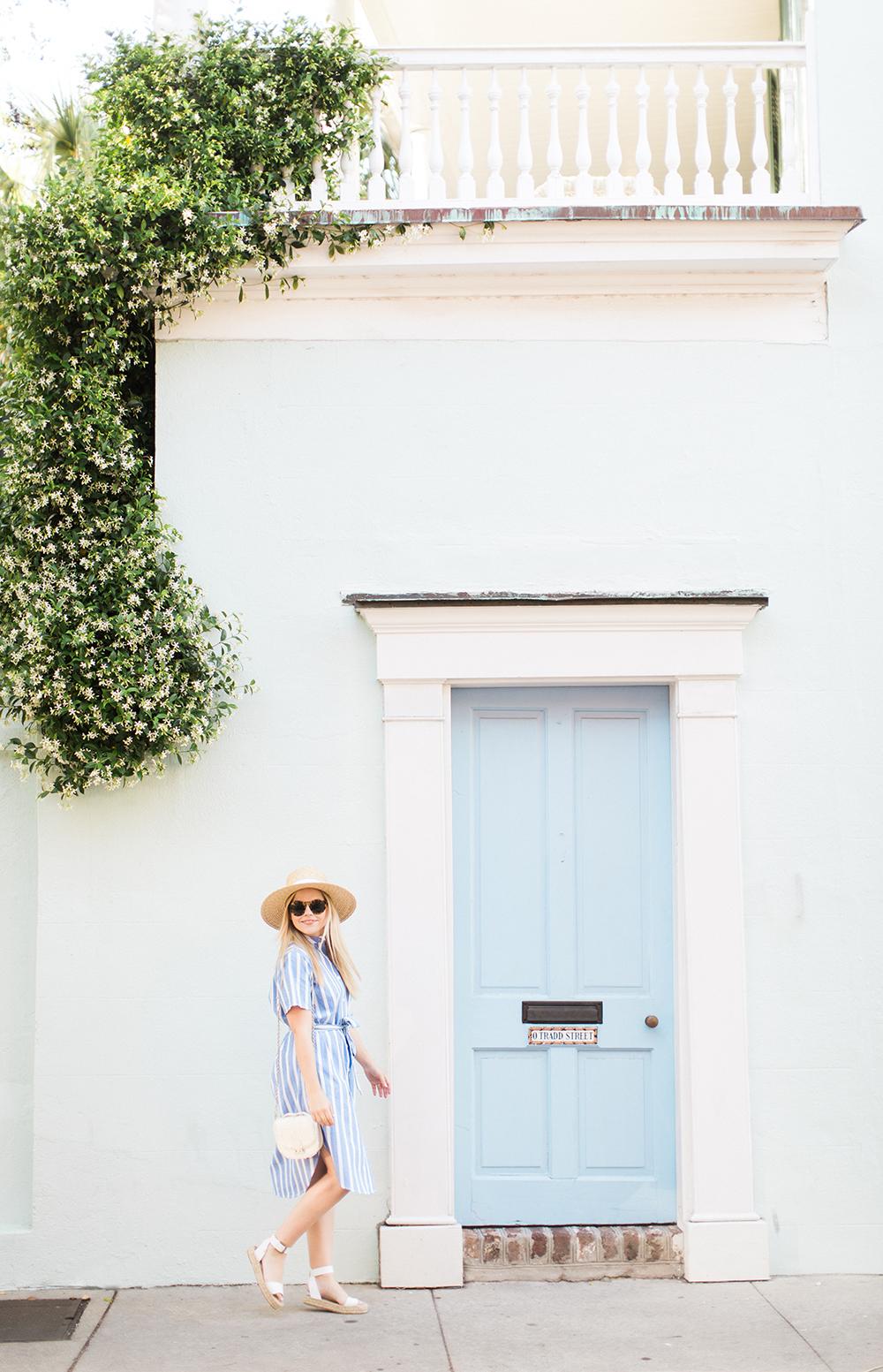 Blue Stripe Midi | Living In Color Print