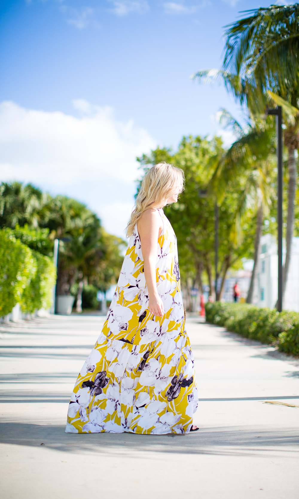 Mustard Floral Maxi | Living In Color Print