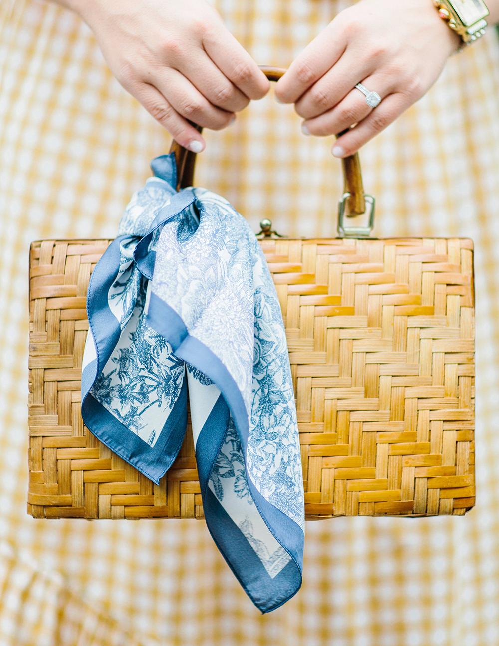 Vintage Wicker Basket Bag
