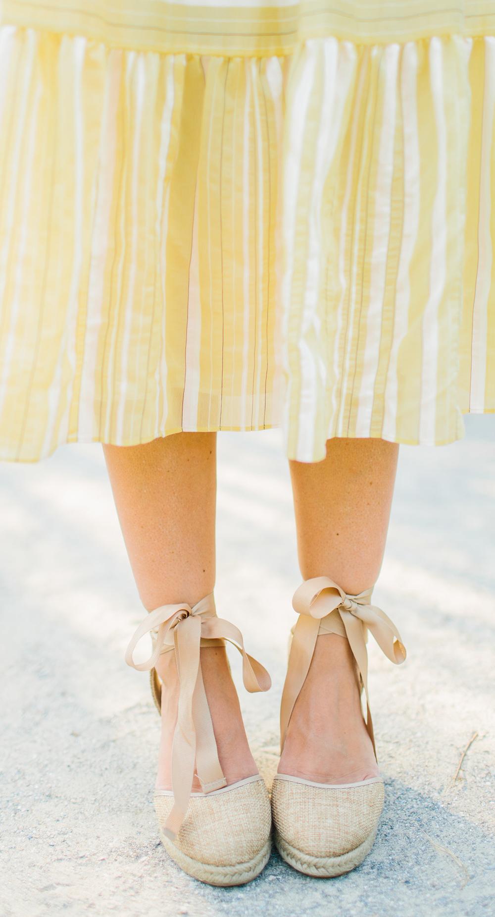 Espadrille Ankle-Tie Wedges