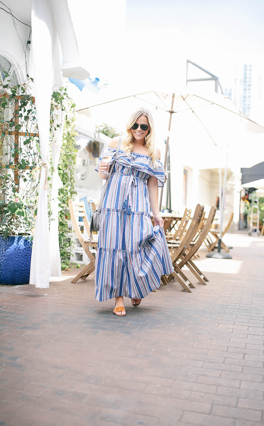 Stripe Maxi at Meraki Greek Bistro Miami