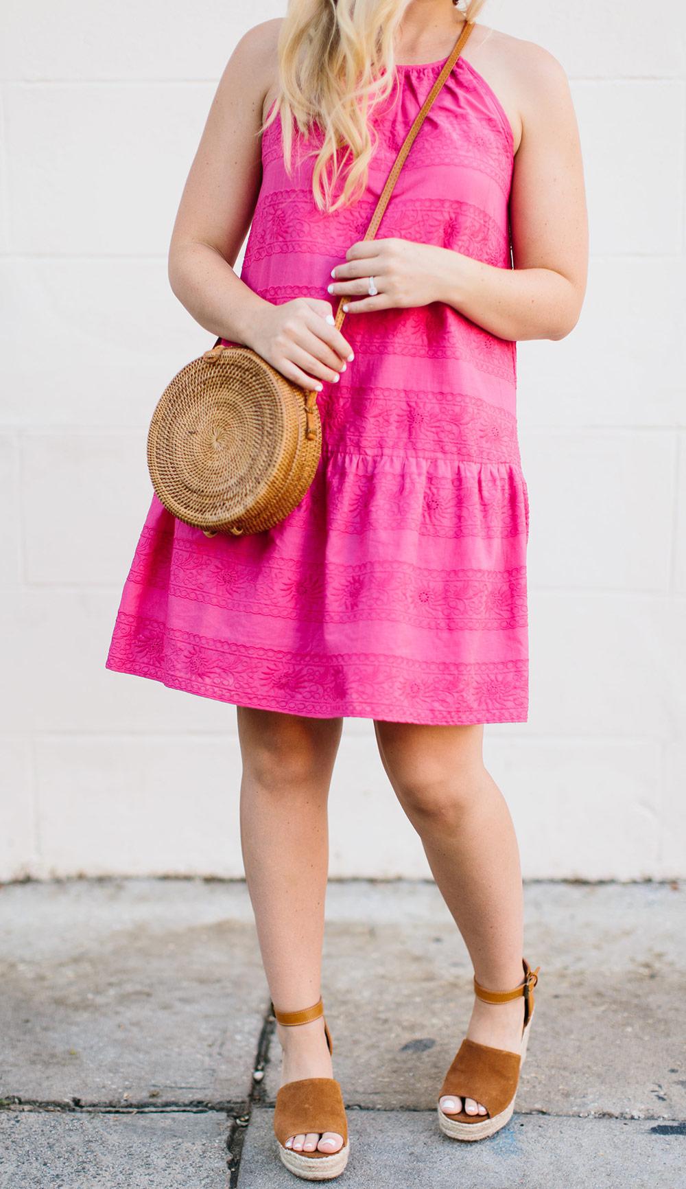 Hot Pink Drop Waist Dress