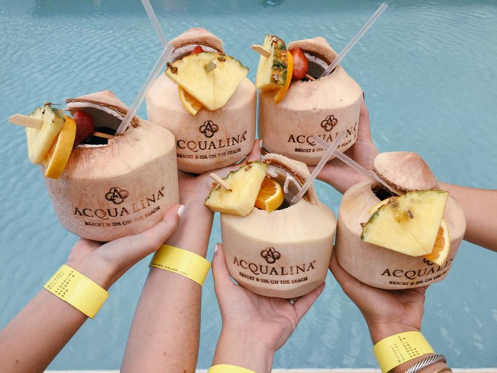 Acqualina Sunny Isles Coconut Drinks