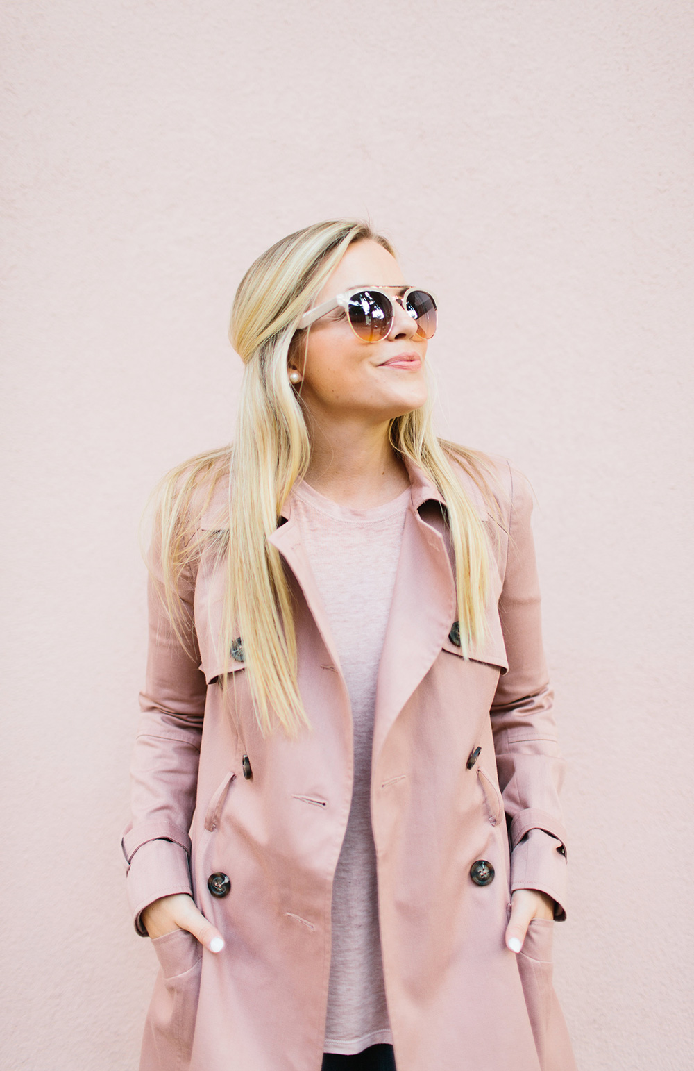 Dusty Rose Pink Trench Coat