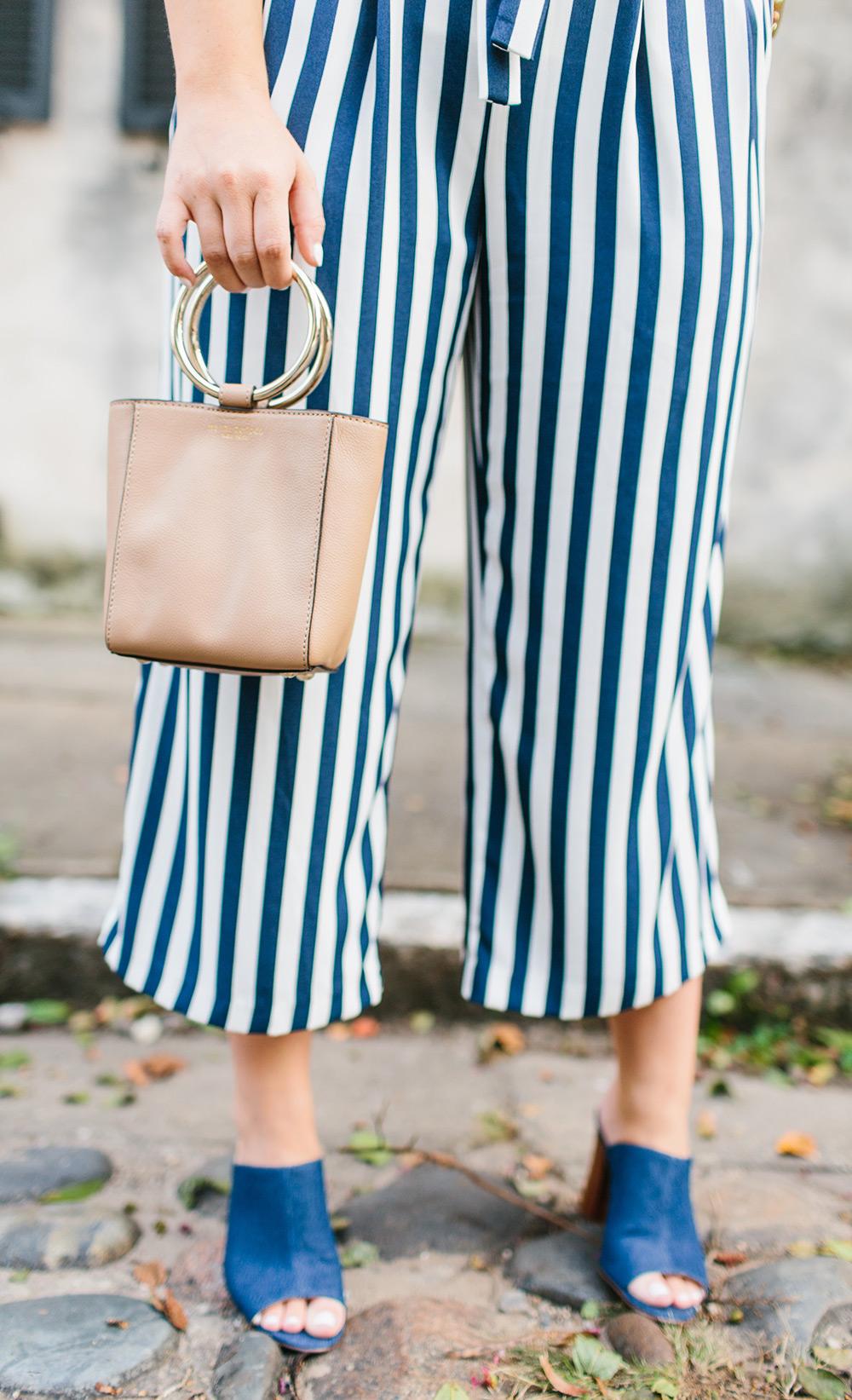 Striped Culotte Pants