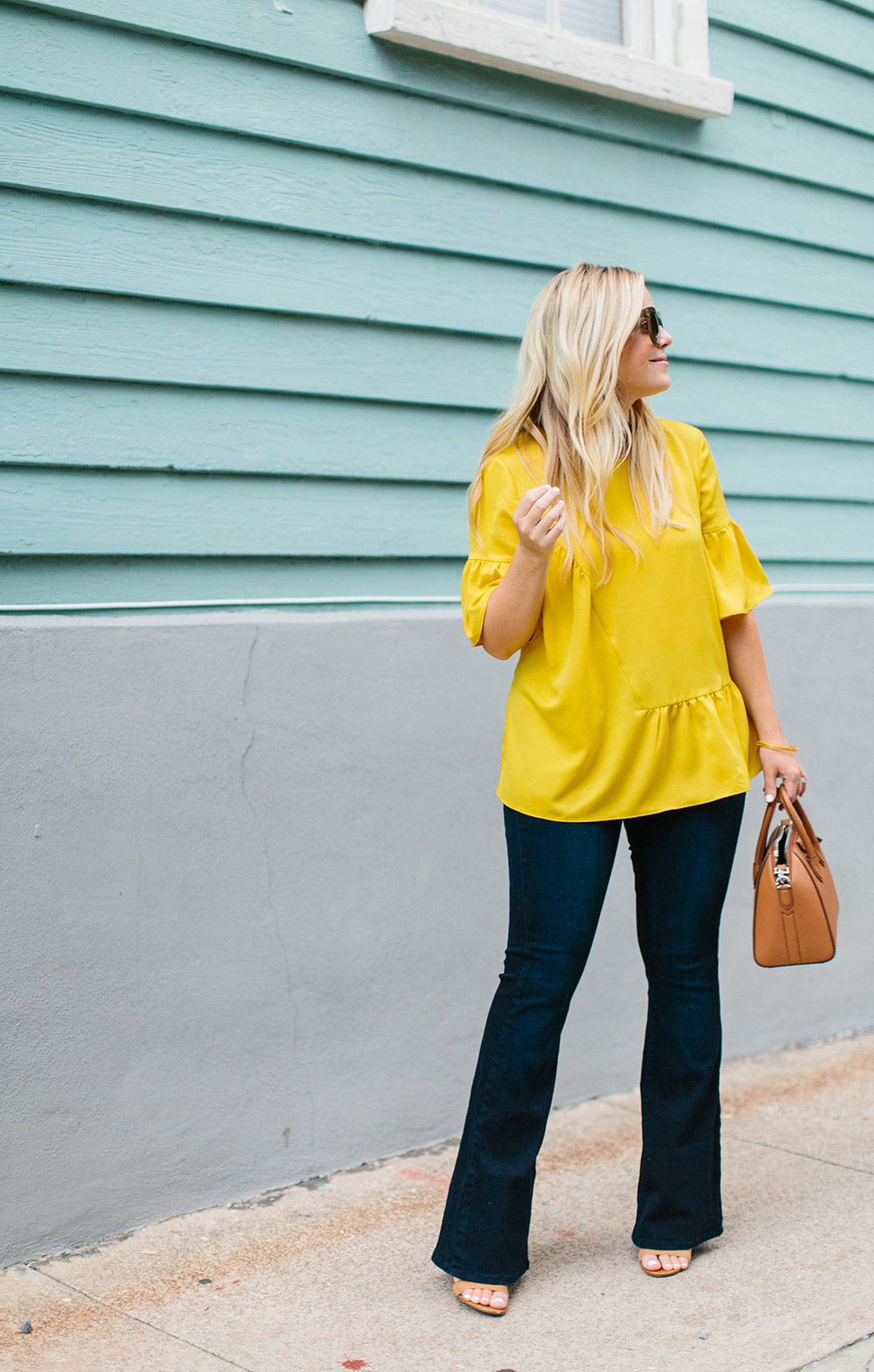 Yellow Ruffled Blouse