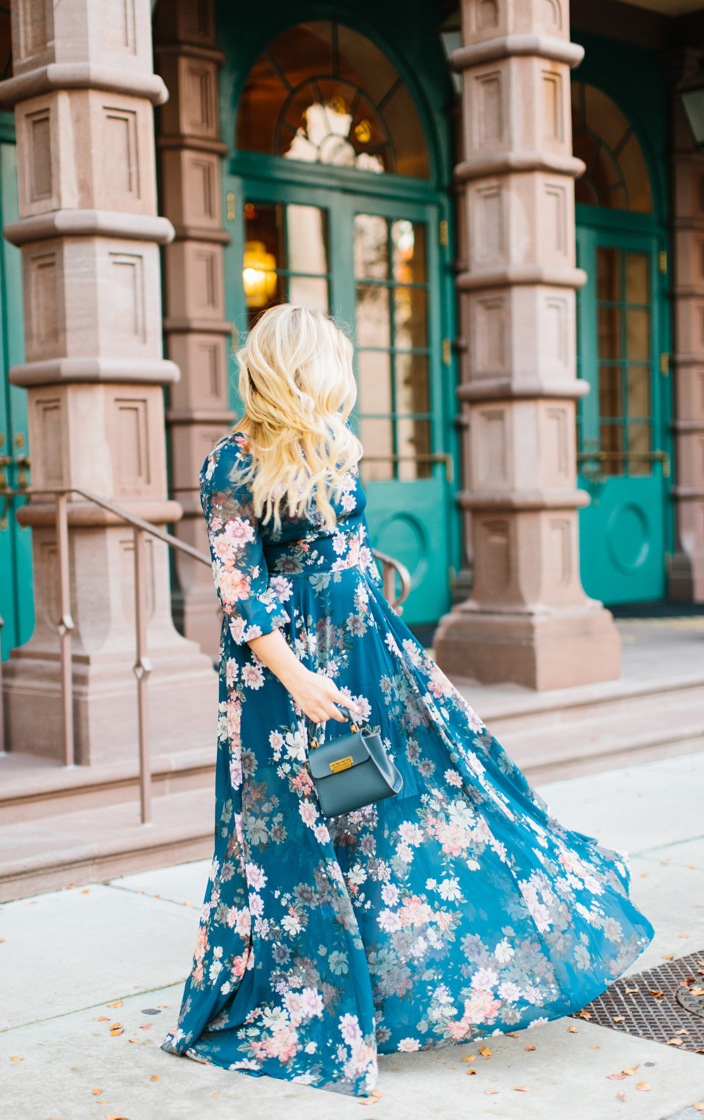 Fall Floral Sleeved Yumi Kim Maxi