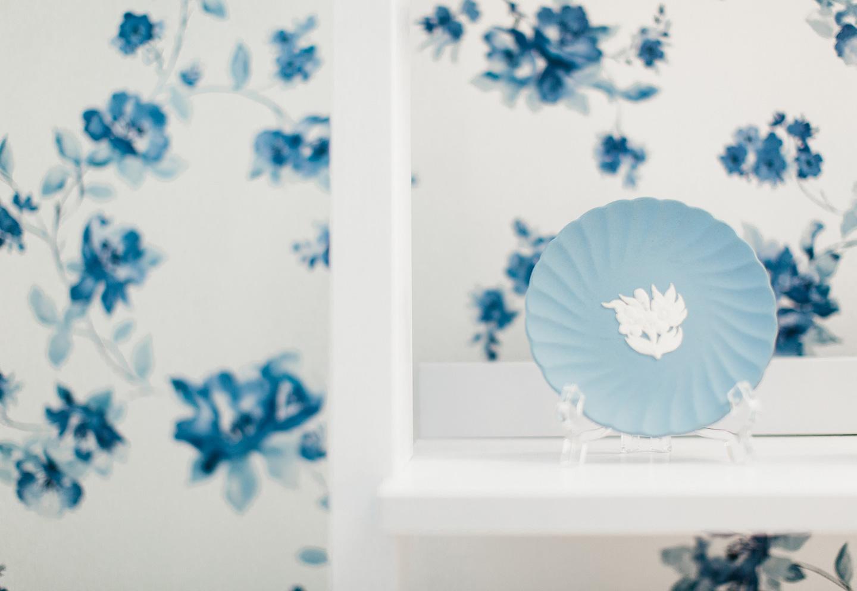 Blue + White Office