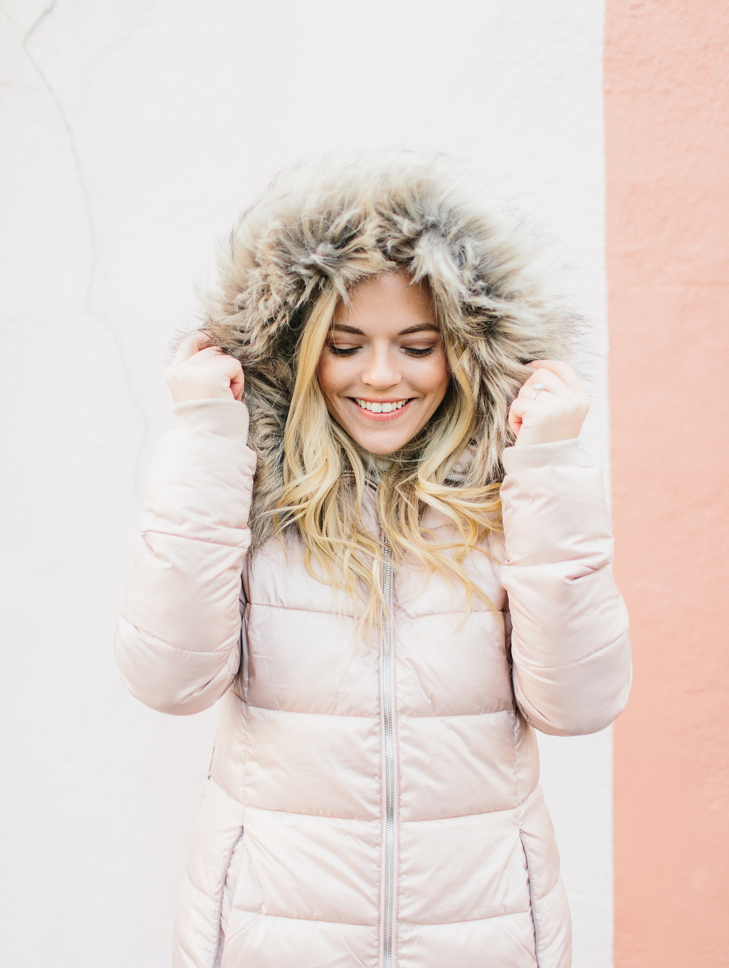 Winter Wordrobe Essentials | Pink Puffer