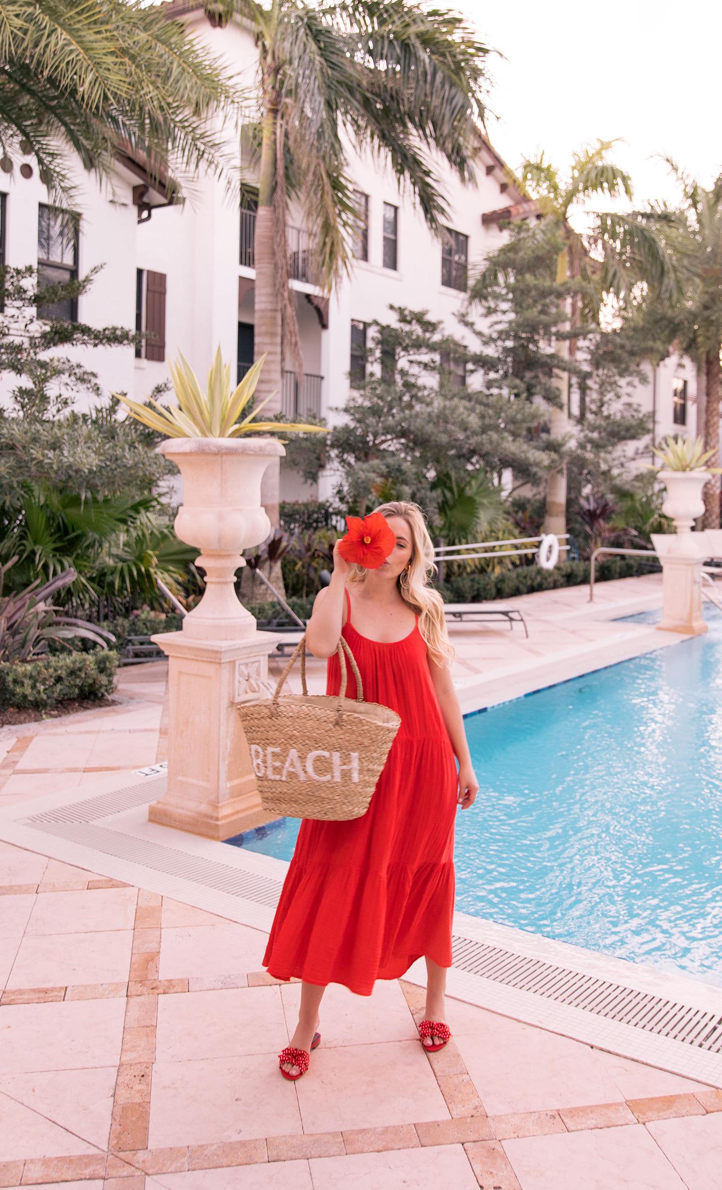 Red Hi-Lo Maxi Dress