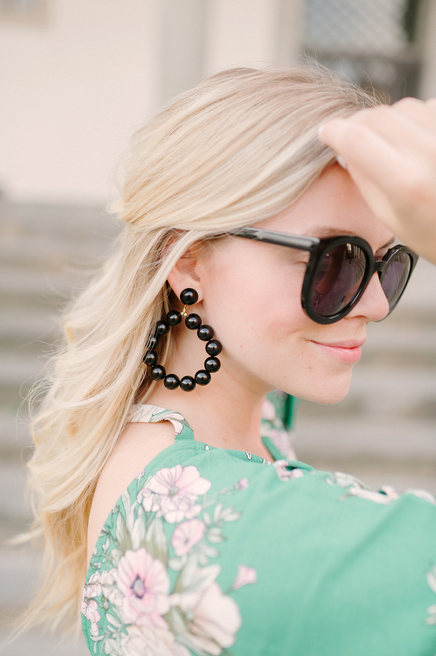 Black Resin Statement Earrings