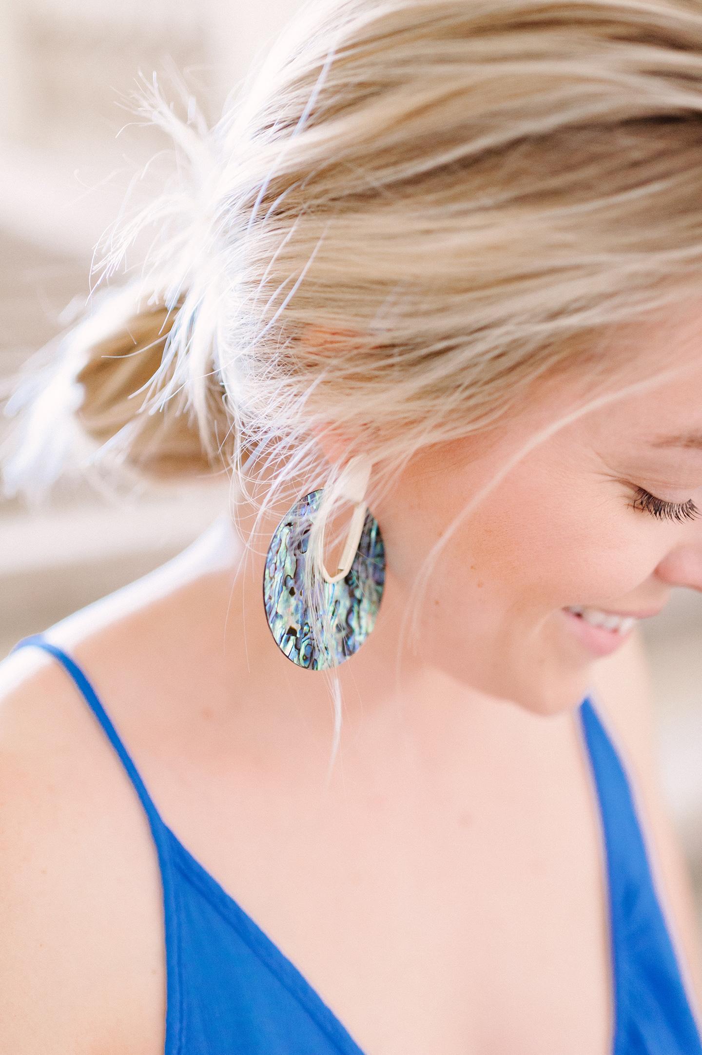 Kendra Scott Diane Earrings in Abalone Shell