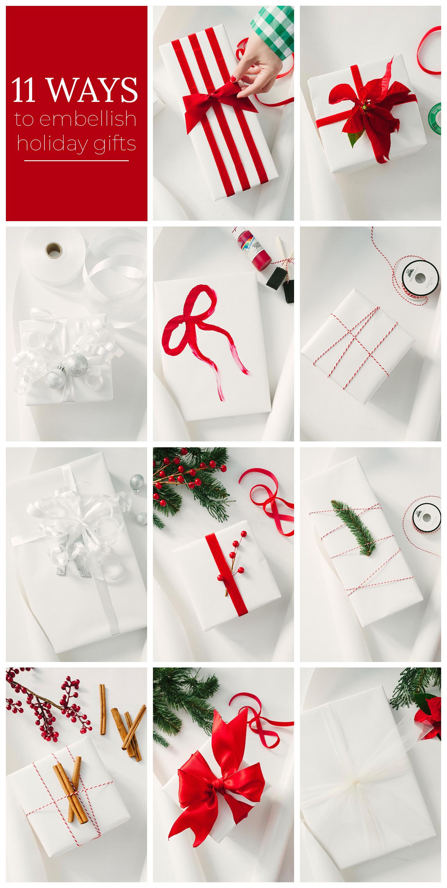 11 Ways to Embellish Holiday Gifts