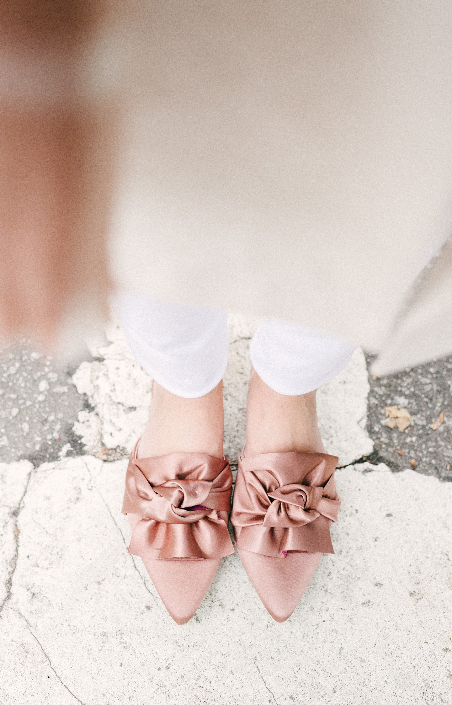Satin Rose Bow Flats | COLOR by K