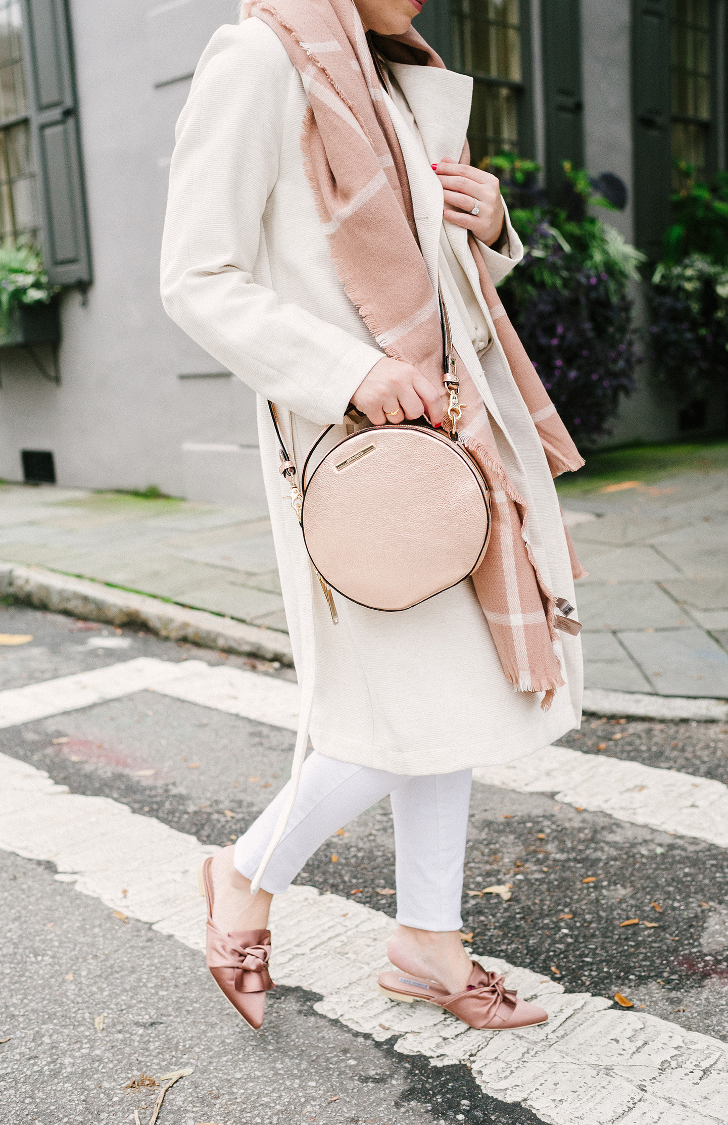 Beige, Cream + Rose Pink Outfit for Winter | COLOR by K