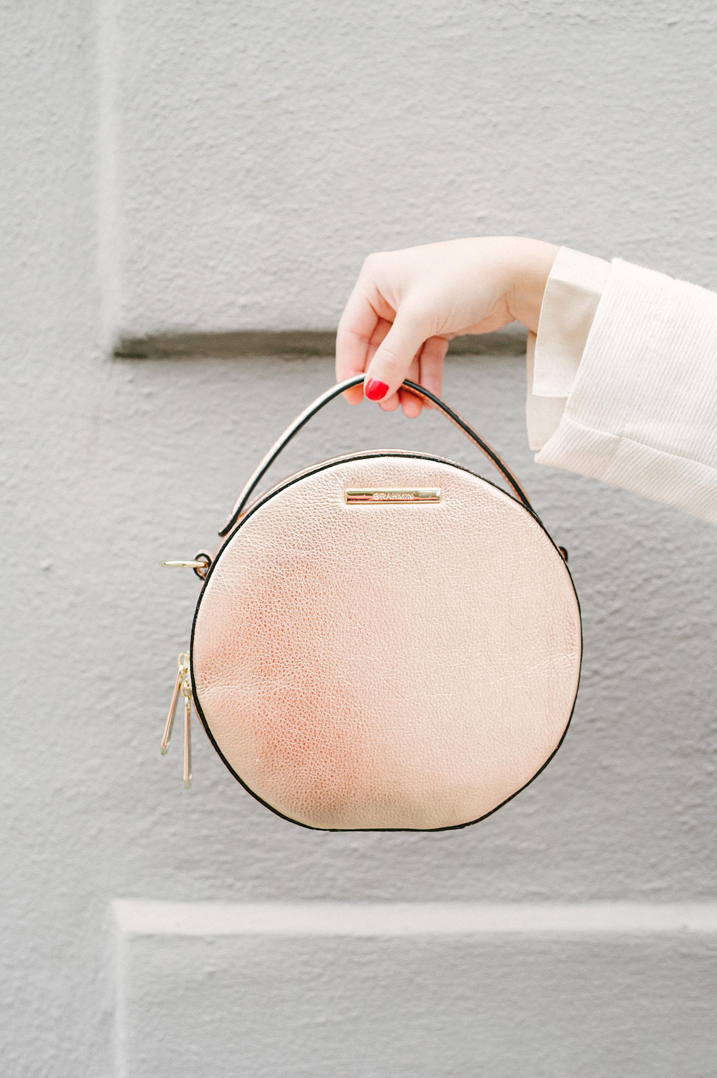 Rose Gold Round Handbag | COLOR by K