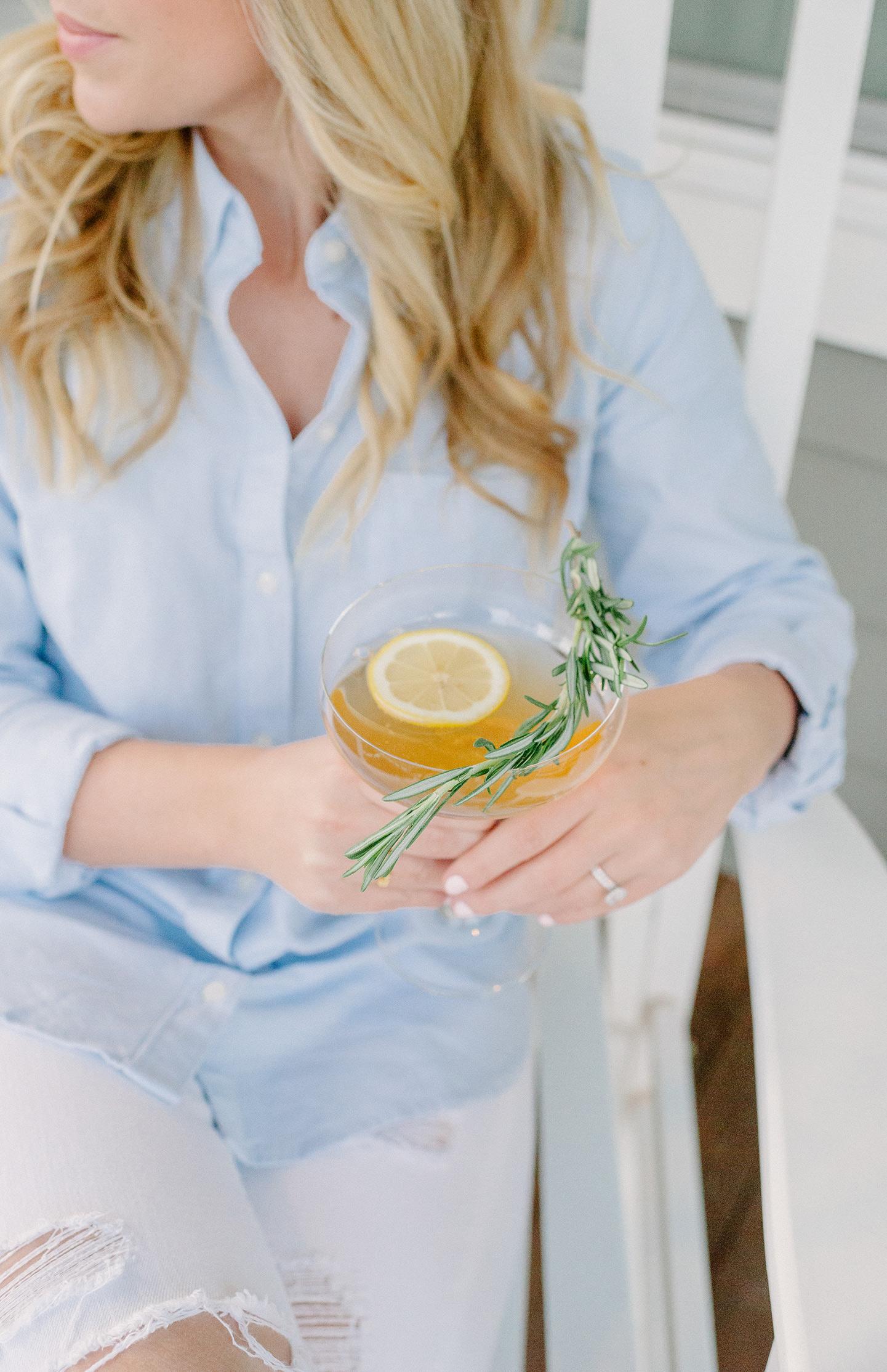 Bourbon Ginger Cocktail | COLOR by K