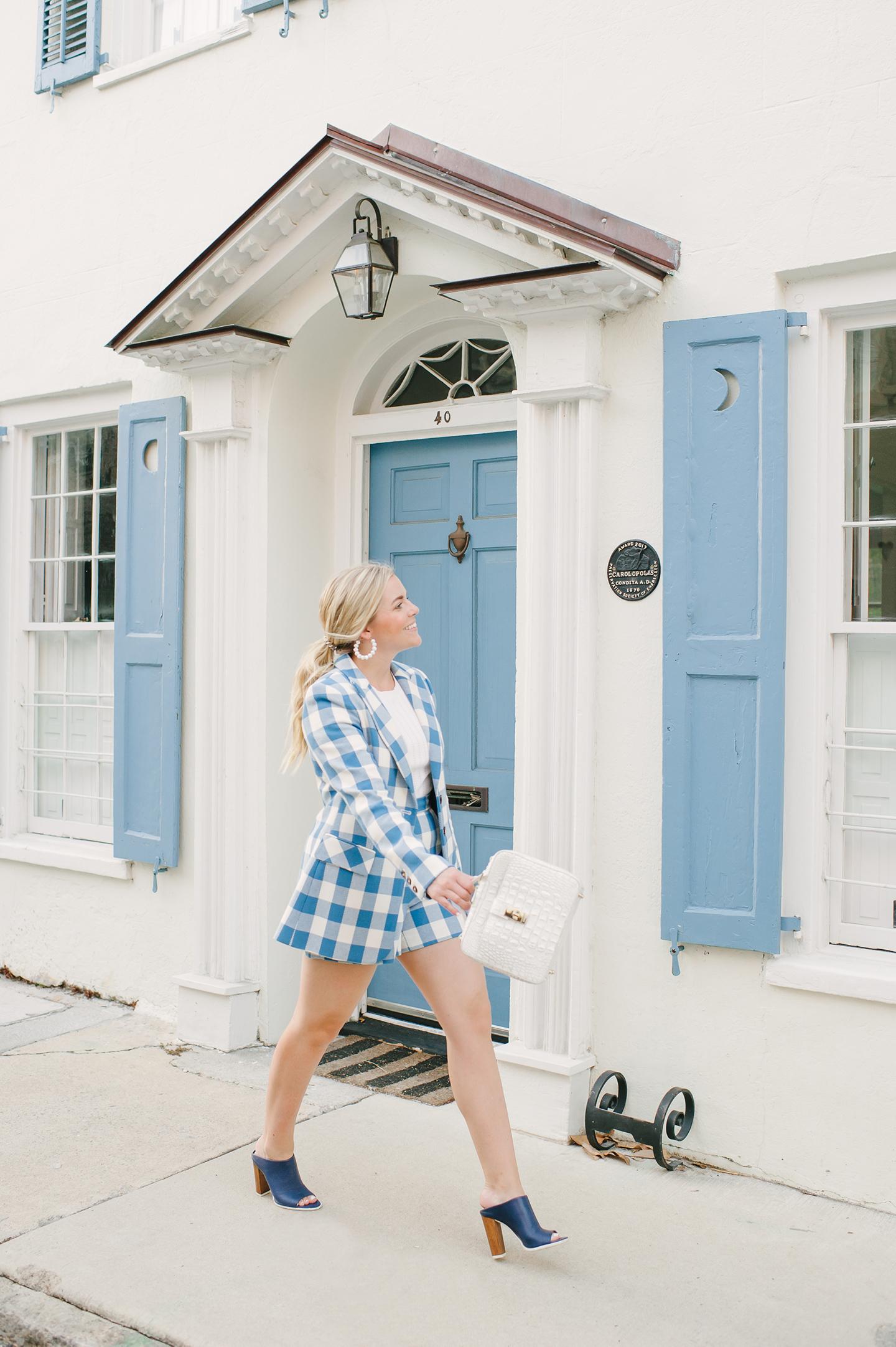 Blue + White Check Short Suit | COLOR by K