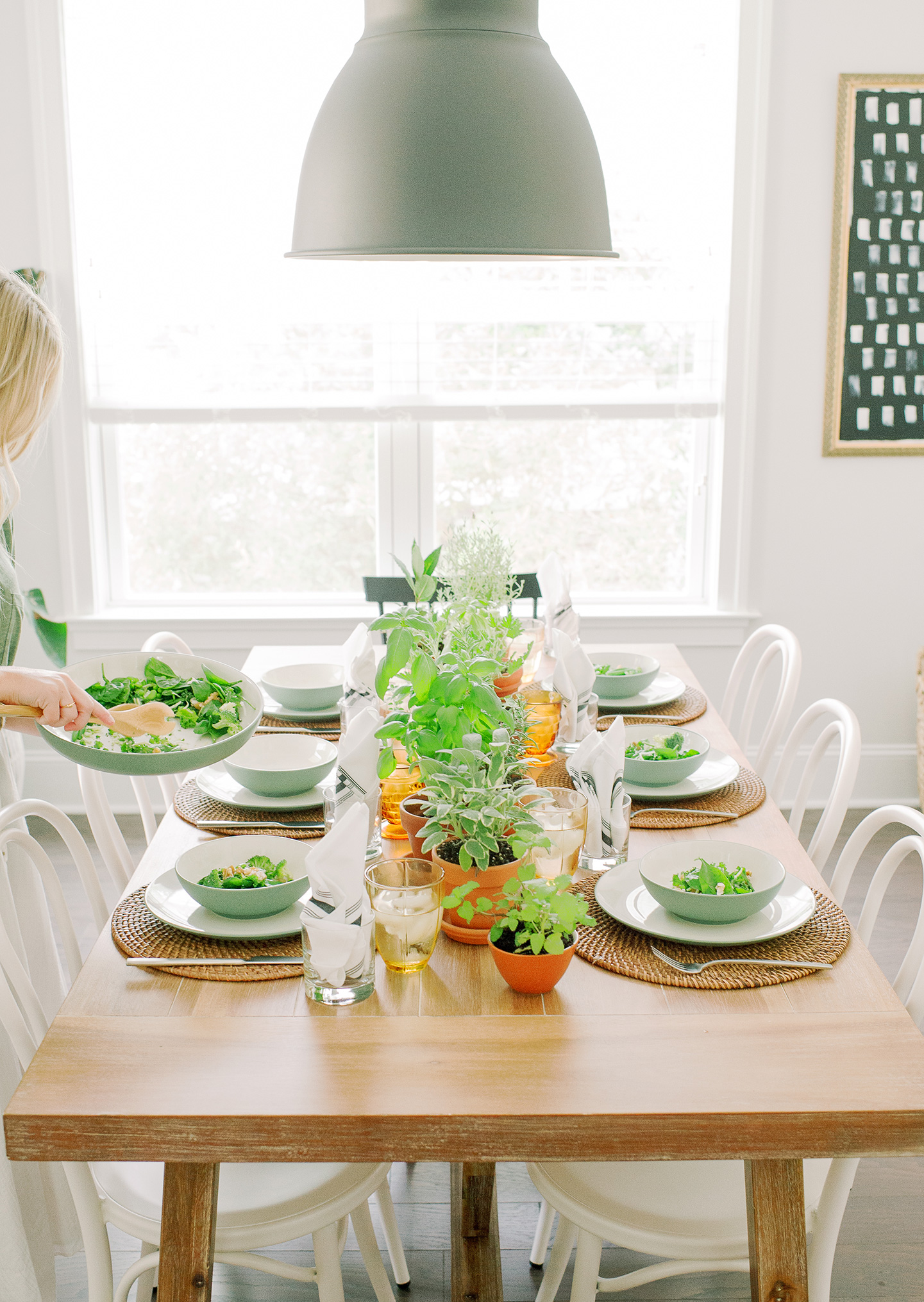 Father's Day Supper Tablescape