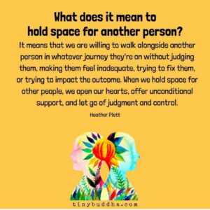 how to give someone space