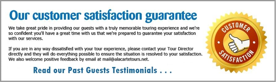 A la Carte Tours-satisfaction