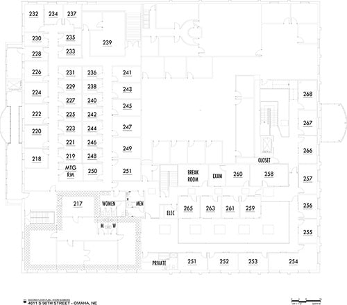 Enterprise Center | Omaha, NE | second level floor plan