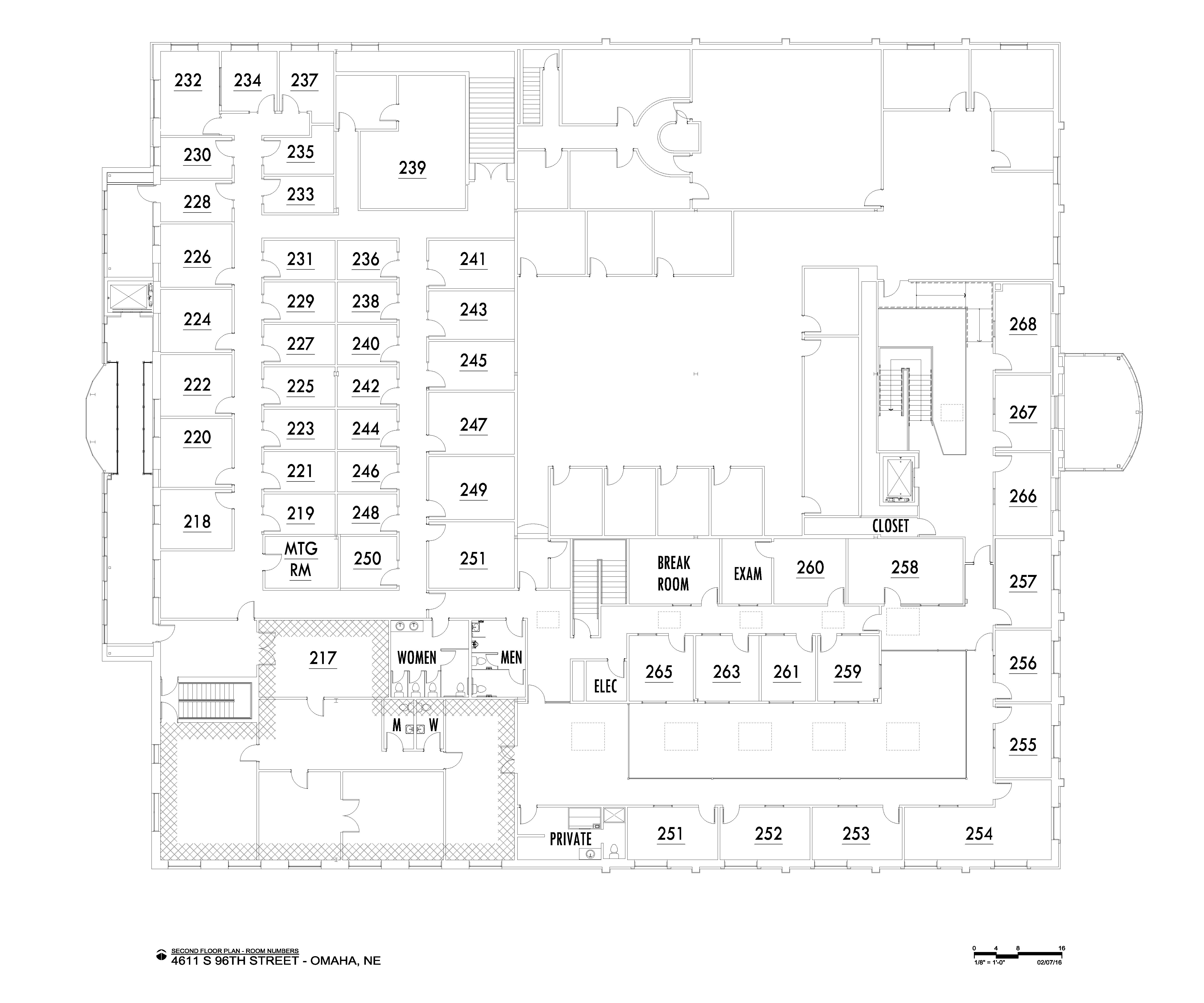 Enterprise Center | Omaha, NE | first level floor plan