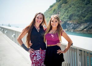 Annie and Mary Echo (15) in Trinidad, CA, August 2015