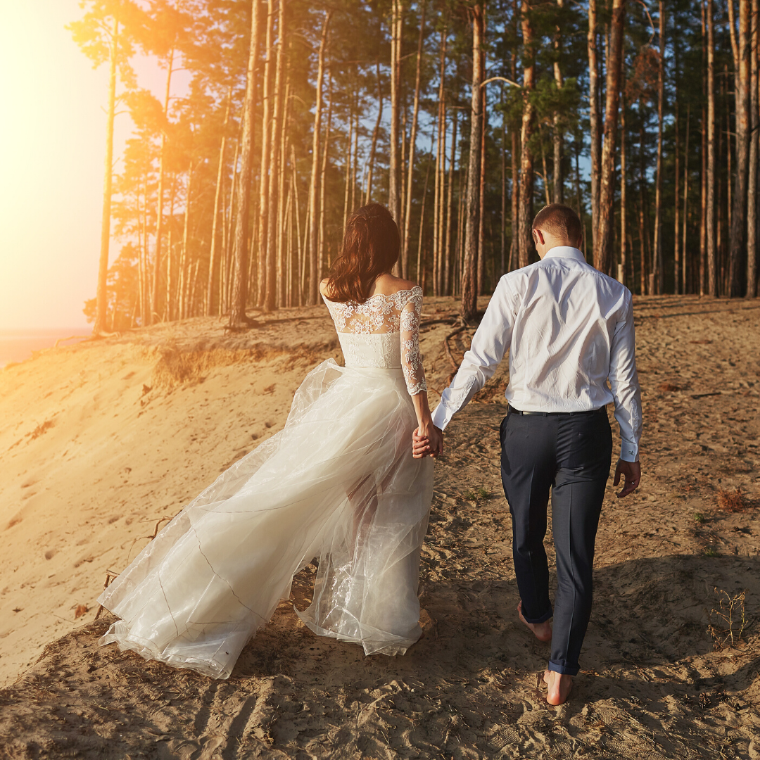 Photo - Bride and Groom Sunset