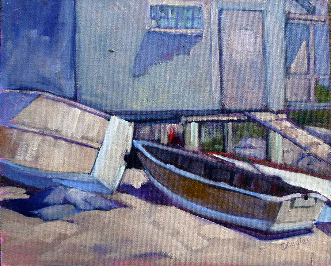 """Fish Beach,"" 10X8, oil on canvasboard."