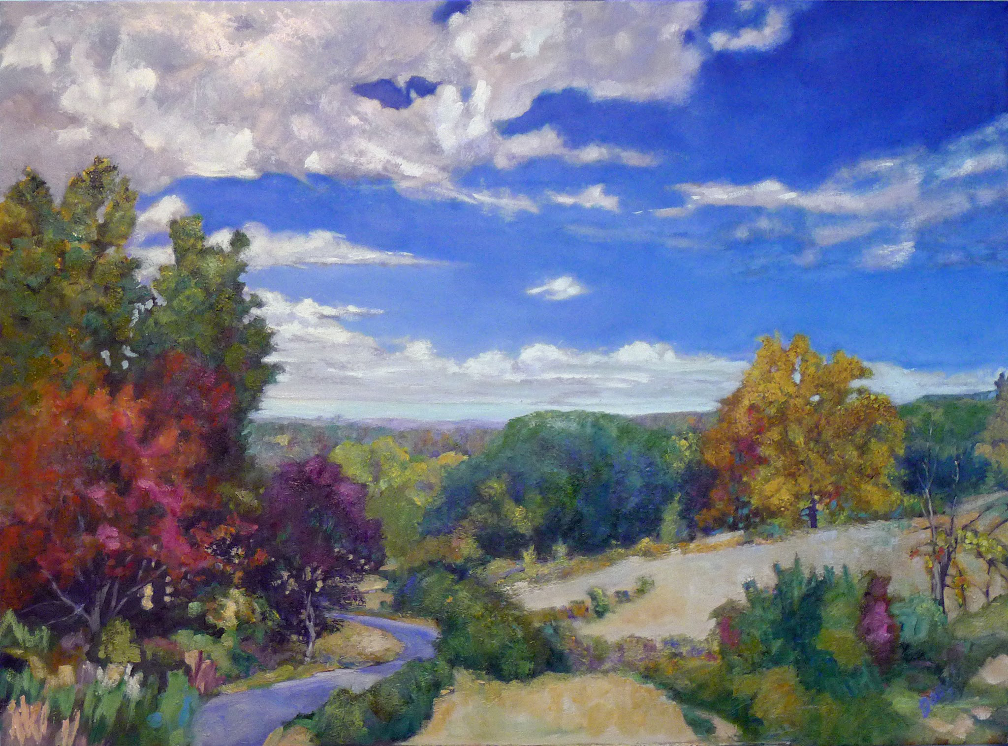 """Midsummer reverie,"" 30X40, oil on canvas."
