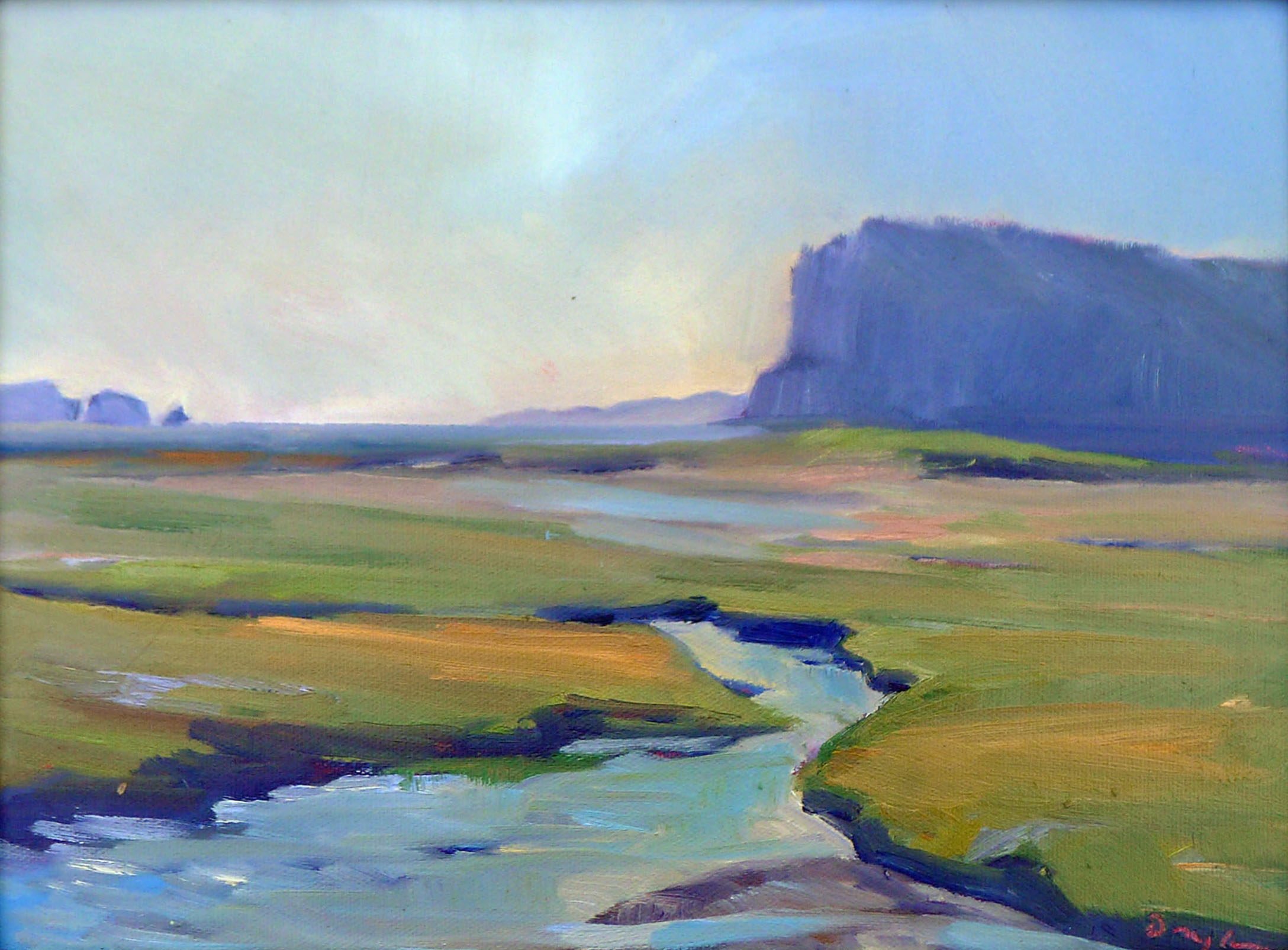 """""""Bay of Fundy Marshes,"""" 12X16, oil on canvasboard, available."""