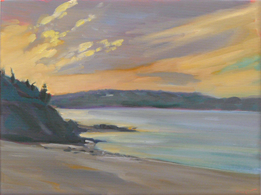 """Nova Scotia Sunrise,"" 12X16, oil on canvasboard, available."