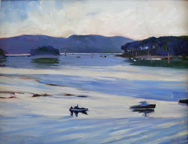 """Penobscot Early Morning,"" oil on canvasboard."