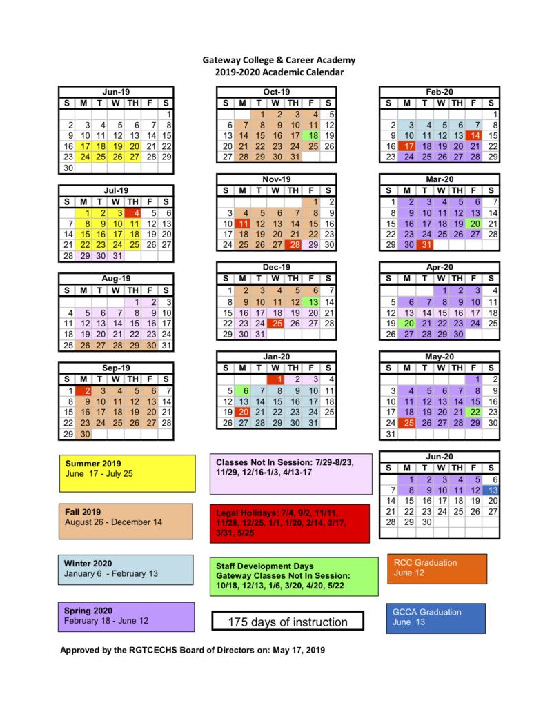 Gcc Calendar.Home Gateway College And Career Academy