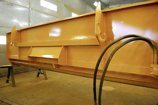 image of repainted used chip spreader at Rocky Mountain Rebuild 8