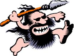 graphic of caveman series logo