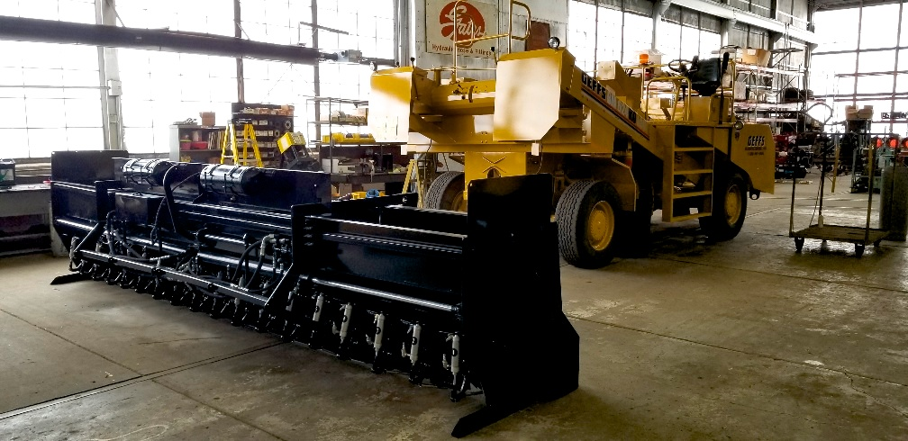 used chip spreader for sale with hopper