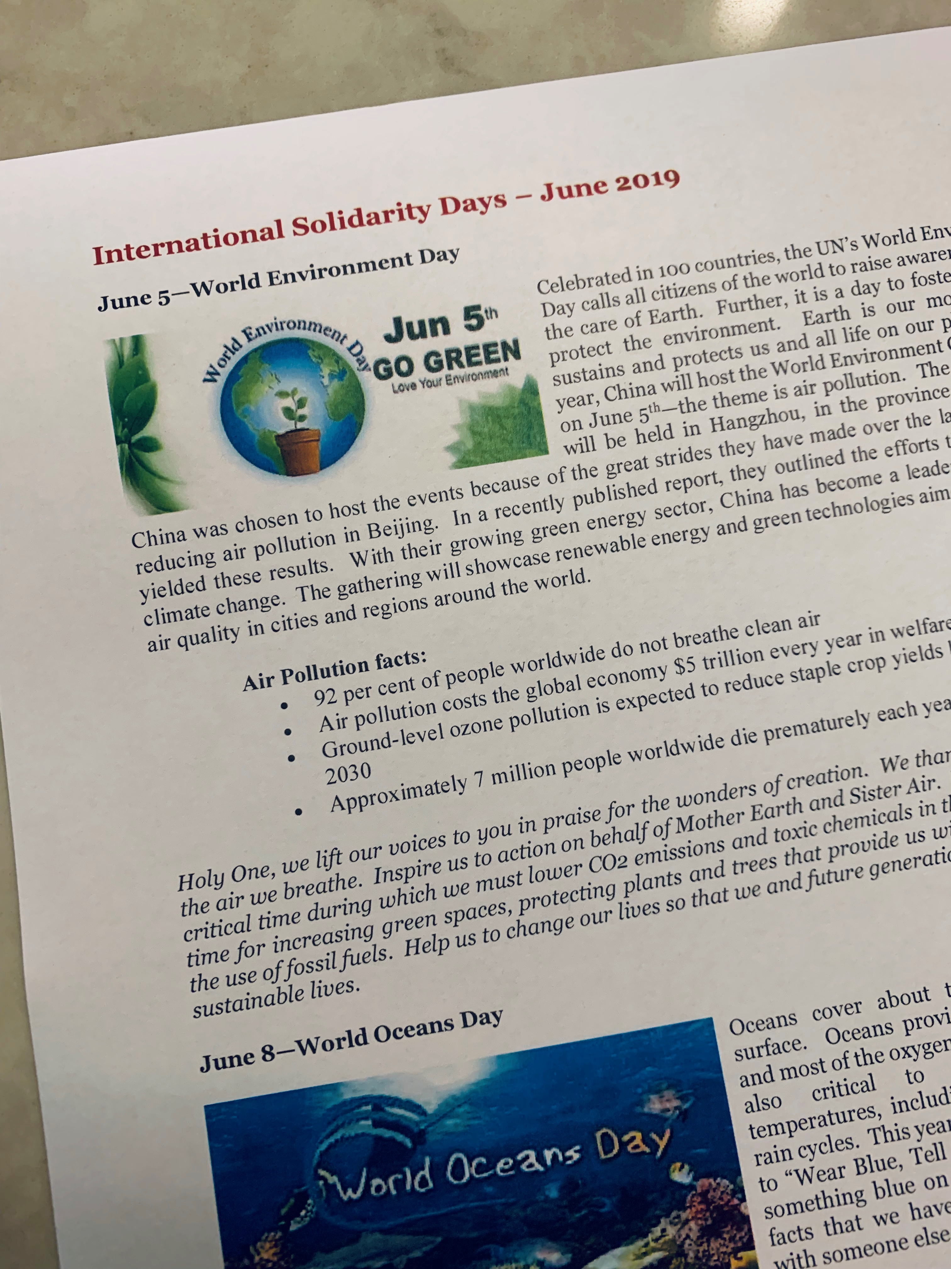 International Solidarity Days – June 2019