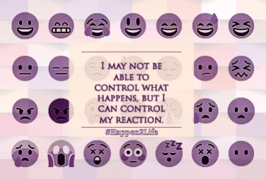 Image with a variety of faces ranging from happy to sad to angry to embarrassed. Includes #Happen2Life