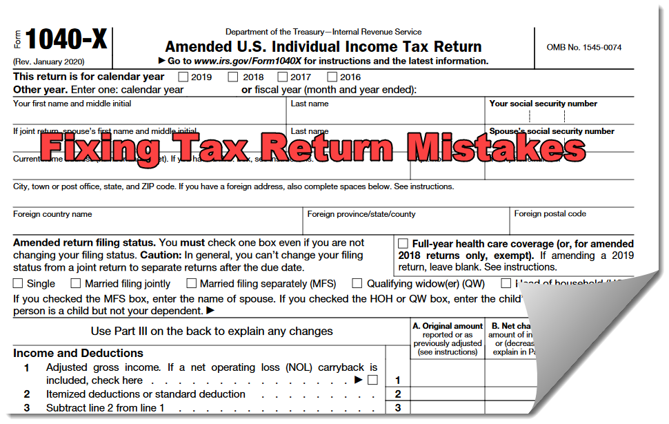 We can help you fix your filed tax returns