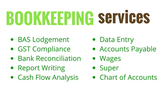 Acorn Bookkeeping list of services Rockingham
