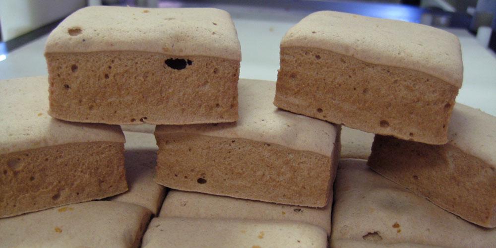 cutting gourmet marshmallows