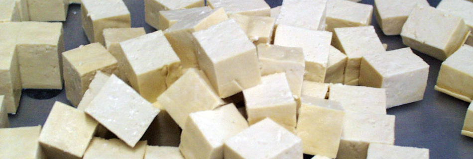 Cutting Tofu Cubes