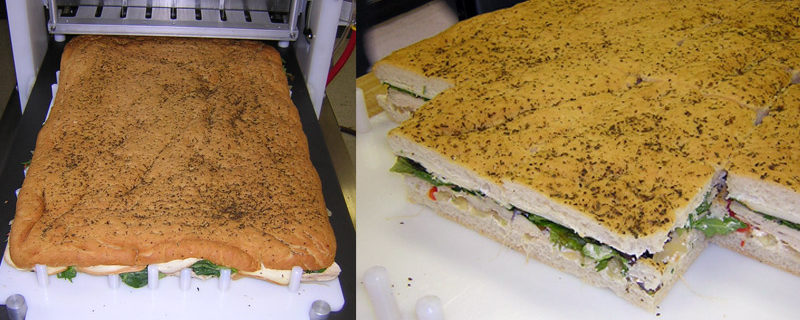 Cutting A Full Sheet Sandwich