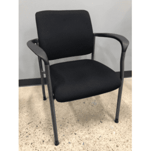 2904 Guest Chair Black Fabric - Titanium - Main