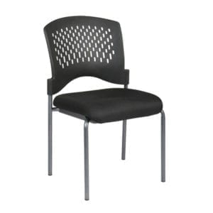 8620-30 Armless Visitors Chair with Ventilated Plastic Wrap Around Back